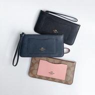 美國百分百【全新真品】COACH F39236 卡片夾 證件夾 皮夾 鈔票收納 專櫃精品 配件 女用 三色 K053