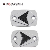 KODASKIN Motorcycle CNC Real Carbon Brake and Clutch Caps Fit for Yamaha XMAX XMAX125 XMAX250 XMAX300 XMAX400 Silver