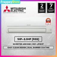 [Frappey] Mitsubishi Air Conditioner (JP Series) 1HP~2.5HP Inverter R32(MSY-JP10VF/ MSY-JS10VF)[PWP Aircond Installation