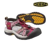 CodEX= KEEN VENICE 編織彈性綁繩護趾防水包頭涼鞋(酒紅灰) 1014209 拖鞋 SANDALS 女