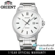 Orient SUNE5004W Man Swimmer Quartz Analogo Date Display Stainless Steel Watch UNE5002W