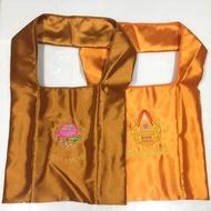 ย่ามพระ ผ้าไหมญี่ปุ่น#เครื่องบวชพระ#ชุดบวชพระ#ชุดทำบุญ#กฐิน#ชุดทำบุญ
