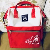 日本 正版 環球影城  Minion 神偷奶爸 方型 紅色 媽媽包 小小兵背包 小小兵背袋 後背包 卡通背包 外出背包