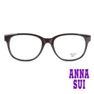 【ANNA SUI 安娜蘇】日系細版鏡腳小花造型光學眼鏡-咖/白(AS574-173)