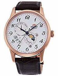 [Orient] ORIENT classic SUN &amp  MOON Arabic wristwatch Mechanical (hand-wrapped) Silver white R...