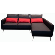 台中二手家具 大里宏品二手家具館 LA1101Di*全新黑紅L型布沙發* 全新/二手客廳家具買賣推薦 茶几/酒櫃/電視櫃