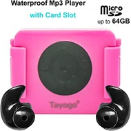 Tayogo Waterproof Swimming Mp3 Player Headset Music Player with Card Slot with Shuffle Feature