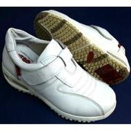 Zobr路豹真皮氣墊鞋/護士鞋 鞋底車縫