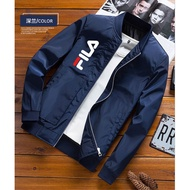 正韓 FILA 斐樂 棒球外套 男生 薄外套 FILA 飛行夾克 立領夾克 青少年 學院風 短版外套