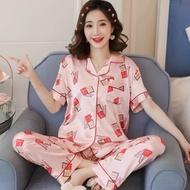 QQS Print Pajamas Two Piece Set for Women Sleepwear Cute Pajamas 2021