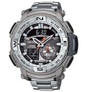 【CASIO 卡西歐 登山錶 系列】專業登山錶-溫度計_數位羅盤(PRG-280D)