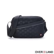 【OverLand】美式十字軍-格紋造型百搭率性側背包(5385)