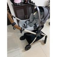 NUNA Triv嬰兒手推車+Pipa Lite Lx超輕量提籃汽座+ISO Fix底座+原廠雨罩