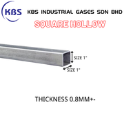 "MILD STEEL (BESI) SQUARE HOLLOW (TEBAL 0.8MM+- ) (SIZE 1"")"