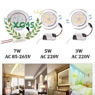 COD Downlight 3W/5W/7W LED Recessed Ceiling Downlight Spotlight Wall Background Decor Light @ my