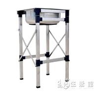 中號小號單槽洗菜槽洗手不繡鋼水槽家用不銹鋼洗碗盆腳架方形單盆