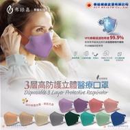 弗綠嘉(聚泰) 醫療級 KN95立體醫療口罩(3層高防護)20入/盒(單片獨立包裝)