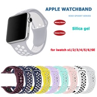 สายนาฬิกา Apple Watch Nike Sports Series สายนาฬิกาแฟชั่นระบายอากาศได้สายรัดหัวเข็มขัดคู่เหมาะสำหรับ iwatch series apple watch s3 / s4 / s5 / s6 / SE