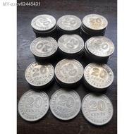 coin collecting QUEEN ELIZABETH 20sen .syiling lama British Borneo