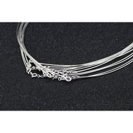 促銷S925純銀正品蛇骨軟鏈銀項鏈軟項圈飾品銀鏈子女鎖骨鏈