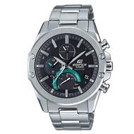 (客訂專屬) 【CASIO 卡西歐】EDIFICE 薄型藍寶石鏡面藍牙太陽能不鏽鋼錶-黑面(EQB-1000D-1A)