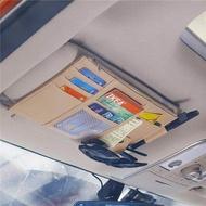 กระเป๋า ▼™ที่วางซีดีในรถMulti-Function Visorรับชุดกระเป๋าใส่ซีดีพร้อมบัตรบัตรกระจกแต่งหน้า