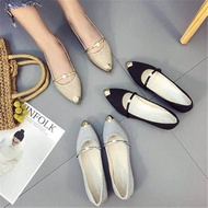 โปรโมชั่นส่วนลดรองเท้าส้นสูงแฟชั่นผู้หญิง คัชชูหนัง ทำงาน สะดวกสบายและหลากหลาย