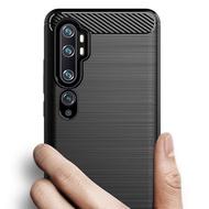 小米Note10 Pro 10Pro手機殼防震拉絲碳纖維TPU硅膠软保護套殼Xiaomi Mi Note10 10Pro