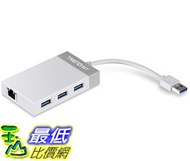 [8美國直購] 集線器 TRENDnet 3-Port USB 3.0 Hub with 10/100/1000 Mbps Gigabit Ethernet Adapte TU3-ETGH3