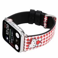 適用 Apple Watch蘋果 Hello Kitty貓卡通手錶帶 iwatch真皮錶帶KT凱蒂貓