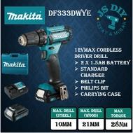 🚚 FREE SHIPPING 🚚 MAKITA DF333DZ DF333DWYE 12Vmax Cordless Driver Drill Battery Drill 『1 Year Warranty』『100% Original 』