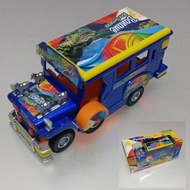 ✗5 inch Miniature Philippine Jeepney Die-cast Metal Pull Back Action - Blue
