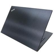 【Ezstick】Lenovo ThinkPad T490 黑色立體紋機身貼(含上蓋貼、鍵盤週圍貼)