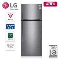 結帳現折★【LG樂金】438L 直驅變頻雙門冰箱 星辰銀GI-HL450SV (預購)