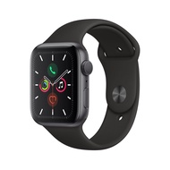 Apple Watch Series 5 GPS (44mm, Space Gray Aluminum Case, Black Sport Band)