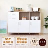 HOPMA 典藏三門二抽廚房櫃 D-C186BR/D-C186MH