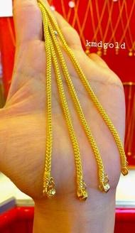 KMDGold สร้อยข้อมือทองแท้96.5% ครึ่งสลึง สินค้าขายได้จำนำได้ พร้อมใบรับประกัน