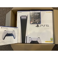 Sony Playstation 5 PS5 Disc Edition Console BUNDLE Extra Control Pad And Game