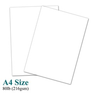 "A4 Premium White Card Stock Paper â Great for Copy, Printing, Writing | 210 x 297 mm (8.27"" x 11.69"") 