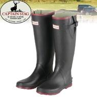 【CAPTAIN STAG 日本 鹿牌雨鞋《黑》】雨鞋/防水雨鞋/安全雨靴/健行/UX-650