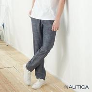 【NAUTICA】休閒渡假輕柔薄棉長褲(深藍)