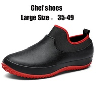Large Size 35-49 Men And Women Chef Shoes Kitchen Anti-skid Oil-proof Safety Shoes Rain Boot