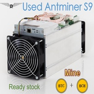 Used Antminer S9 16nm asic miner Bitcoin Miner mining machine with Power Supply