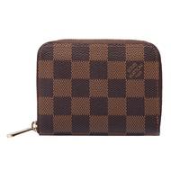 LV N63070 經典印花棋盤格紋名片短夾/零錢包