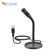 FIFINE Mini USB Microphone for Dictation.Desktop Plug&Play Microphone for Computer Laptop PC.Great for YouTube,Gaming, Streaming
