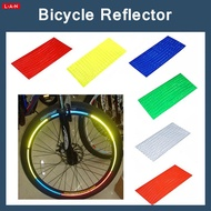 Reflective stickers for orange bicycle wheels