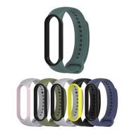【mijobs】小米手環 5/小米手環 6 矽膠雙色腕帶