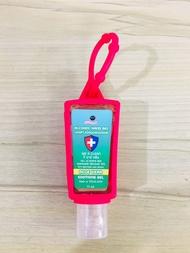 เจลล้างมือ แอลกอฮอล์ 35 มล. เจล ล้างมือ แอลกออล์ หัวห้อย ห้อยกระเป๋าได้ พกพาสะดวก สีชมพูบานเย็น
