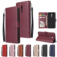 For OPPO Reno Z Wallet-type PU Leather Protective Phone Case with Buckle & 3 Card Position