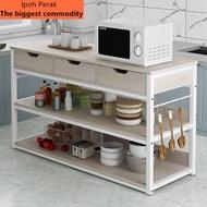 NEW-Hot !New upgrade/Rak simpanan dapur rak simpanan rak oven  jualan besar! ! !